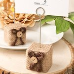 Rustic Burlap Place Card Holders