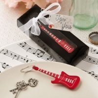 Classic Red Electric Guitar Key Chain Favor