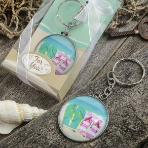 Beach Themed Flip Flop Design Key Chain Favors image