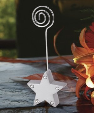 Silver Star Place Card Holder with Rhinestones image