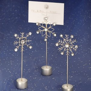 Sparkling Snowflake Placecard Holders image