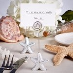 Shimmering Starfish Place Card Holders