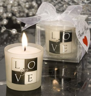 LOVE Wedding Candle Favors image