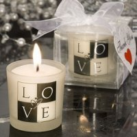 LOVE Wedding Candle Favors
