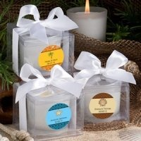 Personalized Beach Candle Favors