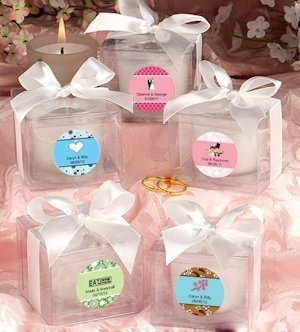 Love Theme Personalized Candle Favor image