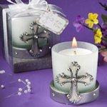 Cross Themed Candle Holders