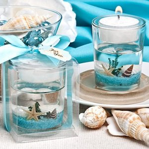 Stunning Beach-Themed Candle Holder Favor image