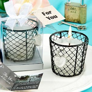 Romantic Love Locks Candle Favor image