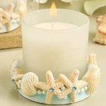 Stunning Beach-Themed Candle Holder Favor - photo#22