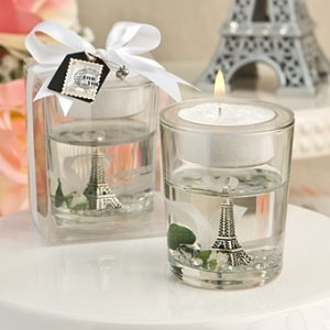 Eiffel Tower Gel Candle Holder Wedding Favors image
