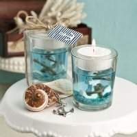 Anchor Design Nautical Theme Gel Candle Holders