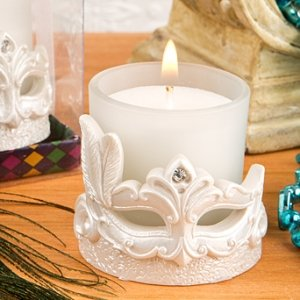 Mardi Gras Mask Candle Votive Party Favors image