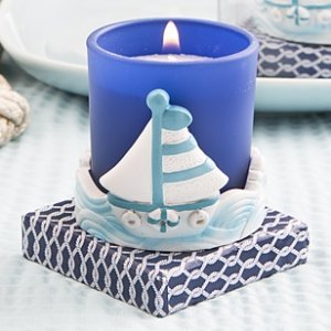 Sail Boat Beach Votive Candle Holder Favors image