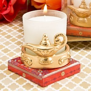 Gold Magic Lantern Candle Votive Holder Wedding Favors image