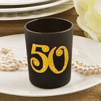 Big Fifty Candle Votive Birthday or Anniversary Favors