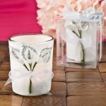 Silver Calla Lily Design Votive Candle Holder Favors