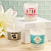 Personalized Frosted Glass Candle Holder