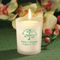 Personalized Candle Bridal Shower Favors