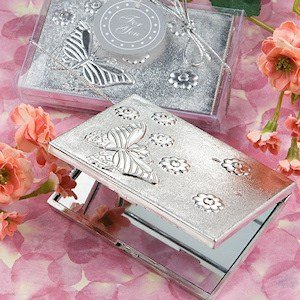 Elegant Reflections Butterfly Compact Mirror Favors image