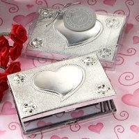 Heart Design Compact Mirror Favors