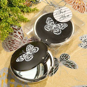 Elegant Butterfly Round Compact Mirrors image