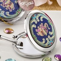 Indian Elephant Metal Compact Mirror Wedding Favors