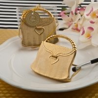 Elegant Reflections Gold Purse Design Compact Mirror