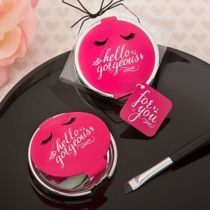 Hello Gorgeous Mirror Favor In Hot Pink image