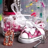 Oh-So-Cute Pink Star Sneaker Keychain