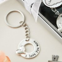 I Love You More Silver Metal Key Chain Favors