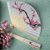 Elegant Cherry Blossom Silk Folding Fans