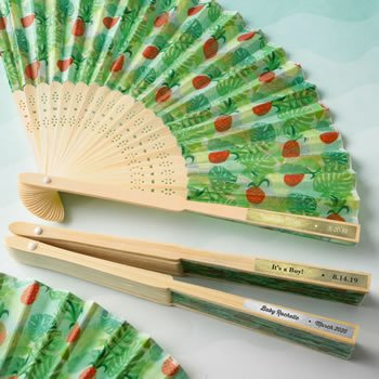 Personalized Metallics Collection Pineapple Themed Fan image