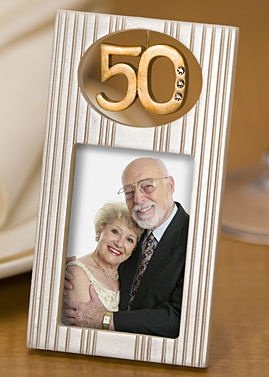 Gold 50 Anniversary Photo Frame image
