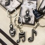 Musical Note Keychain Favors (3 Assorted Styles)
