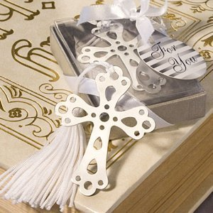 Silver Cross Bookmark Favors image