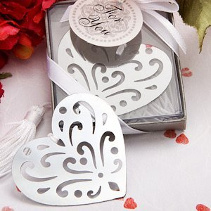 Book Lovers Heart Design Bookmark Favors image