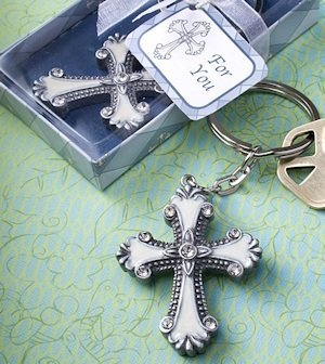 Keychain Favors with Cross Charm image