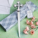 Letter Opener Favors with Cross Charm