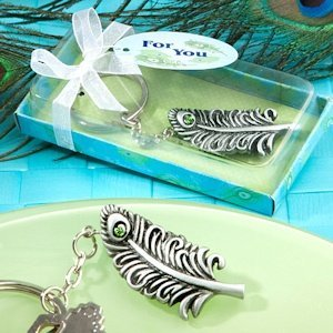 Peacock Feather Keychain Party Favors image