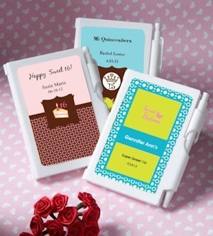Notebook Personalized Sweet 16 Party Favors (or Fifteen) image