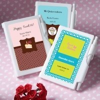 Notebook Personalized Sweet 16 Party Favors (or Fifteen)