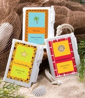 Personalized Notebook Wedding Favors - Beach Theme image