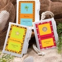 Personalized Notebook Wedding Favors - Beach Theme