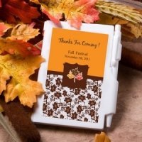 Personalized Autumn Notebook Favors