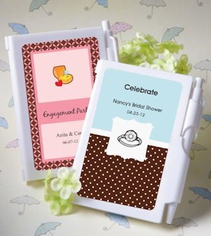 Notebook Personalized Wedding Shower Favors image