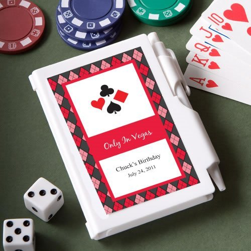 Casino Themed Personalized Notebook Favors