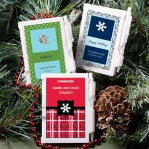 Winter Theme Personalized Notebook Favors image