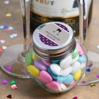 Personalized Wedding Anniversary Glass Jar Favors