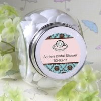 Personalized Bridal Shower Glass Jar Favors
